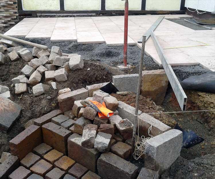 Bricks and tools
